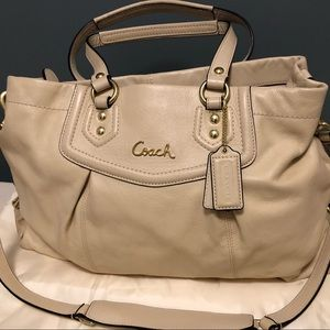 ASHLEY LEATHER CARRYALL (COACH F19243)